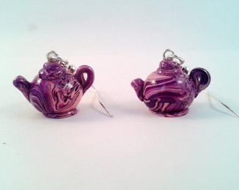 Teapot Earrings - Psychodelic Style