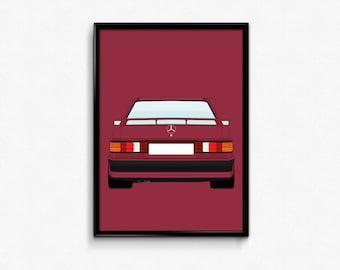 Mercedes Benz 190 E Cosworth A3 Print