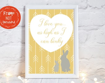 gender neutral baby shower gift, baby shower gift, gender neutral nursery decor, baby gift personalized, I love you as high as I can binky