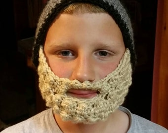 Crocheted hat and beard
