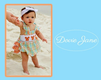 Baby Beach Romper, Girls Beach Romper, Baby Beach Outfit, Toddler Beach Romper, Bubble Romper, Baby Ruffle Romper, Toddler Girl Bubble