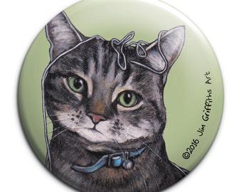 Cat pocket mirror, Tabby cat, cat mirror, pocket , stocking filler , handbag mirror, gift for cat lovers, for cat lovers