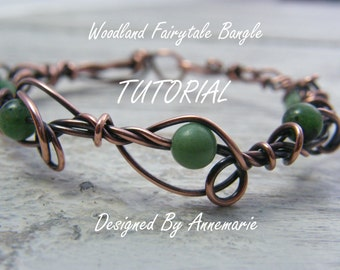 Wire wrapped jewellery tutorial ~ Wire wrapping PDF ~ Handmade jewellery tutorial ~ Bracelet tutorial ~ Jewellery tutorial ~ Wire wrapped ~
