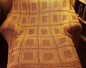 Hand Made Knitted Blanket
