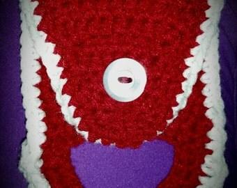 Dish towel holder. Crochet kitchen towel holder
