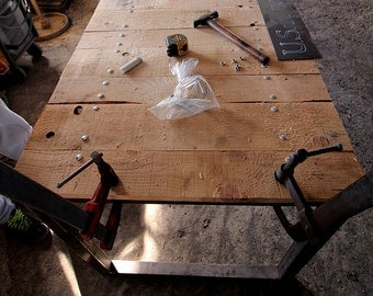series table industrial WooD