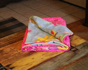 Bandana Quilt- My Little Pony-MLP-Hot Pink Handmade Blanket- Throw
