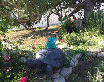 Pokemon Bulbasaur Planter, Painted,  Indoor and Outdoor Planters, Succulent Planter