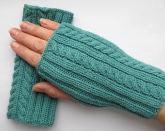 azure fingerless mittens, wristwarmers, azure mittens, azure wristwarmers, fingerless gloves, knitt mittens, fingerless mittens