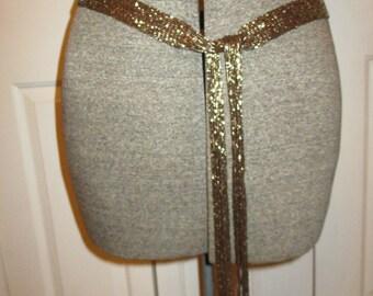 Vintage beaded fringe belt