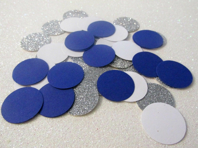 225 Royal Blue White Silver Confetti Royal Blue Birthday Decor
