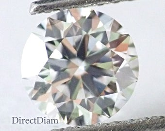 0.84 ct loose Natural diamond E VVS2 Round cut GIA certified Ex Ex Collection Color and Clarity 6.1 mm