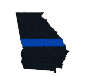 "BUY 2 GET 1 FREE - Thin Blue Line Filled Machine Embroidery Design in 4 Sizes, 2"", 3"", 4"", 5"" - Blue Lives Matter, Police Support"
