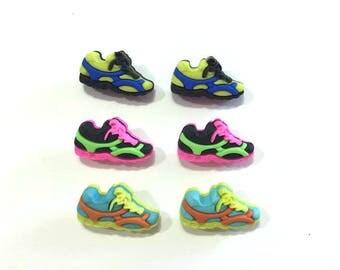 Tennis Shoes Collection Buttons Jesse James Buttons Fun Run Dress It Up Buttons Set of 3 Pair Shank Back - 928 A