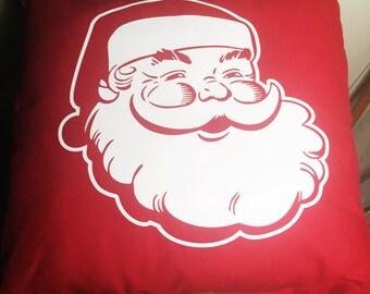 Santa Clause Christmas throw pillow, Santa Clause is coming to town pillow, Christmas pillow, St. Nick pillow, Jolly St. Nick pillow,