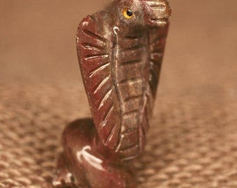 Hand-Carved Soapstone Cobra