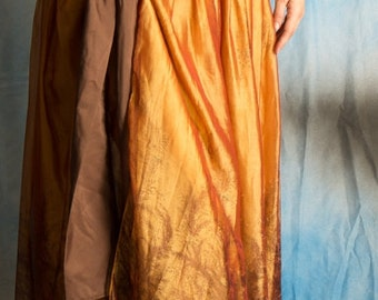 Gold Ombre Tie On Skirt