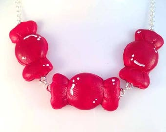Cute confectionery statement necklace from the sweet shop collection by Toxic Heart Designs *choose your colour* / Candy - Sweets - Rings