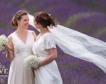 Cathedral Veil - Bridal Veil - Wedding Veil - Fingertip Veil - Chapel Veil - Cathedral Wedding Veil - Long Veil