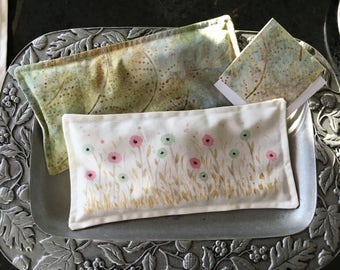 Eye Pillow, Lavender Flaxseed Eye Pillow, Pretty Eyepillow, Aromatherapy Pillow, Spa Eye Pillow, Comfort Eye Pillow, Watercolor Eyepillow