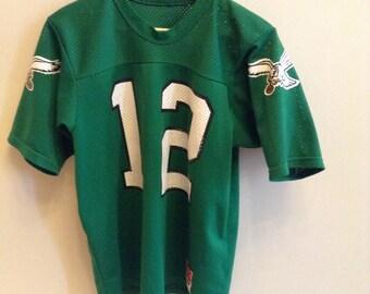 Vintage Philadelphia Eagles - #12 - Randall Cunningham jersey - LARGE - Sand-Knit by MacGregor