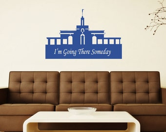 Mount Timpanogos LDS Temple Vinyl Wall Decal, I'm Going There Someday, Mormon Temple Home Decor