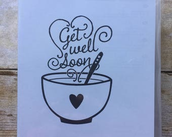 Get Well Soup wood mount stamp from Stampin'Up!