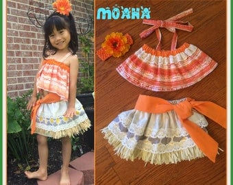 Moana Costume, Moana Birthday,   Moana dress, Moana Hawaiian Princess, Moana outfit