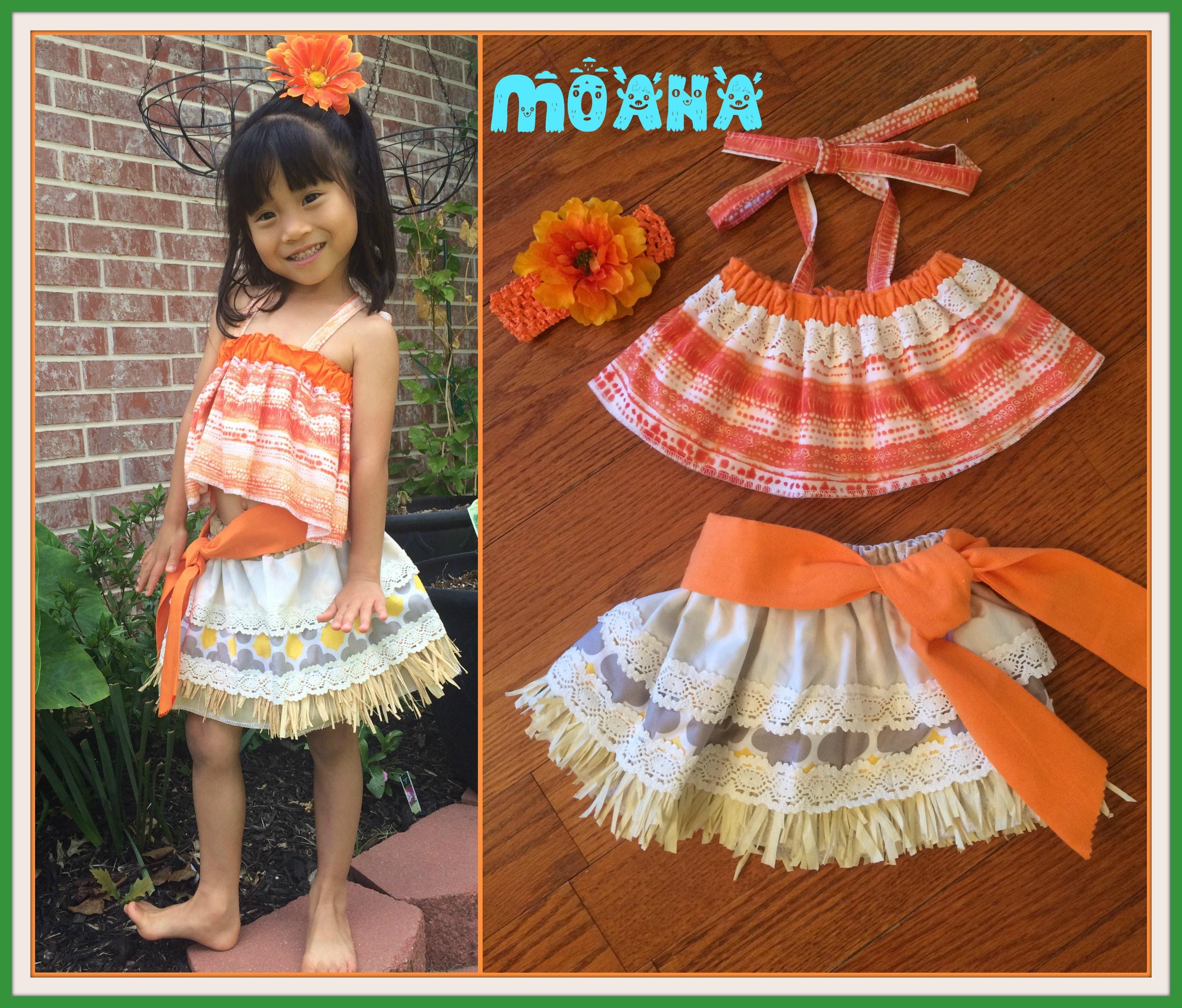 Moana Costume Moana Birthday Moana dress Moana Hawaiian