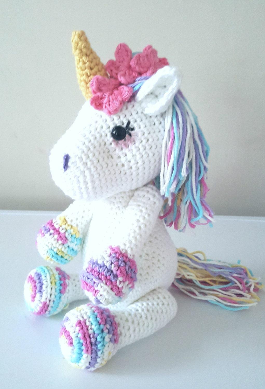 lavender unicorn crochet pattern amigurumi pdf instant