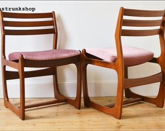 vintage chairs dining chair set of 4 Portwood danish design mid century teak