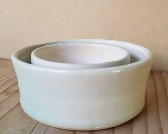 Ceramic Nesting Bowls, Ramekins, Dip Bowls, Prep Bowls, Set of 2, Handmade Pottery, Cone 6 B30029