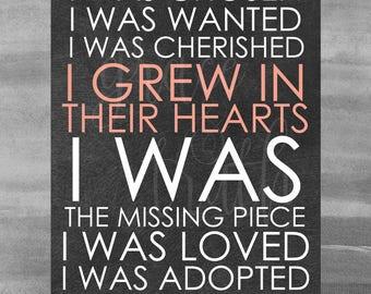 Adoption Print || Home Decor || Nursery Decor ||