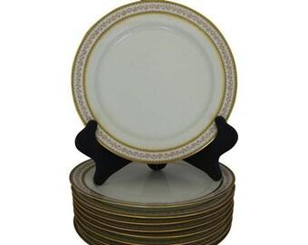 Vintage Set of 10  Lunch Plates CH Field Haviland GDA Limoges France