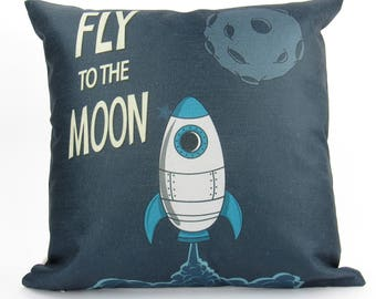 Kids Rocket - Pillow Cover