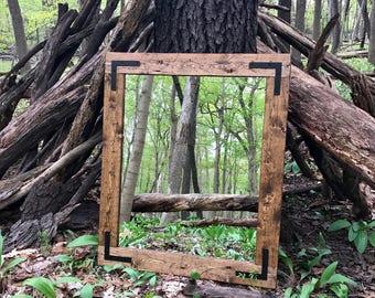 Mirror, Handmade Mirror, Wood Frame Mirror, Bathroom Mirror, Rustic Wood Mirror, Wall Mirror, Vanity Mirror, Large Mirror, Small Mirror
