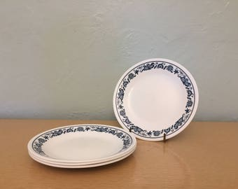 "Four+ Corelle Old Town Blue 6.5"" Bread / Dessert / Side Plates"