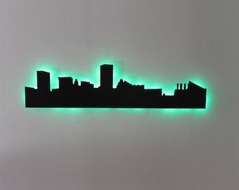 Baltimore Maryland City Skyline LED Sign