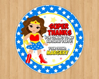 Wonder Woman Favor Tags