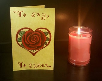 Hand Drawn Valentine's Day Card with Shakespeare Quote