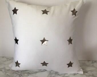 Silver Star Cushion Cover
