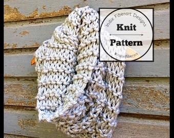 Knitting Pattern // The Niagra Cowl // Chunky Jumbo Yarn // Oversized Layered Cowl Scarf