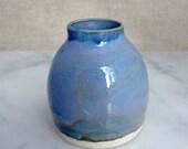 light blue bud vase -- porcelain
