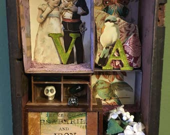 Mixed Media Victorian Shadow Box