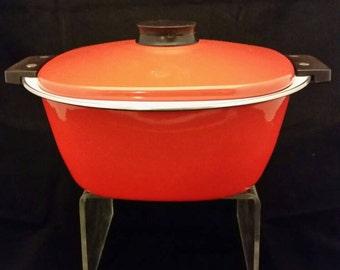 Catherine Holm orange Holland enamel covered casserole