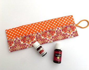 Essential Oil Roll up Carrying Case, Pouch, Bag - EO Travel Case - Essential Oil Organizer - Storage for Oils