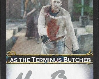 The Walking Dead Actor Adam Boyer AUTOGRAPHED Custom Trading Card