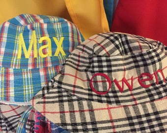 Personalized bucket hats