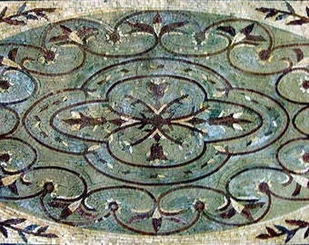 Botanical Mosaic Area Rug - Hadi III