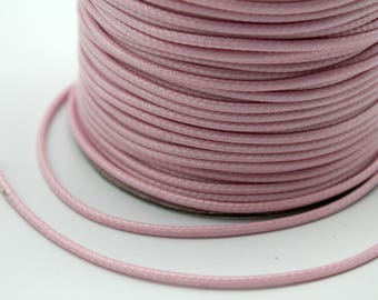 Sale 100 Yards/Roll Uncut 2mm Pale Pink Wax Cords, Environmental Protection Wax Cords WS528